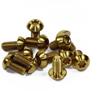 Obtainium Gold titanium Rotor bolts